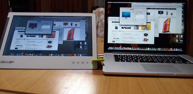 ON-LAP 1302 FOR MACで、モバイルモニター
