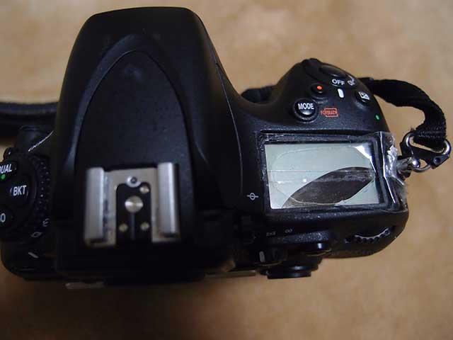 D800 上部液晶